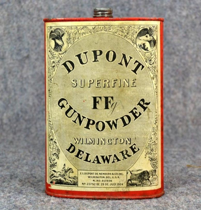 Dupont Gunpowder Tin Gun Powder Maine