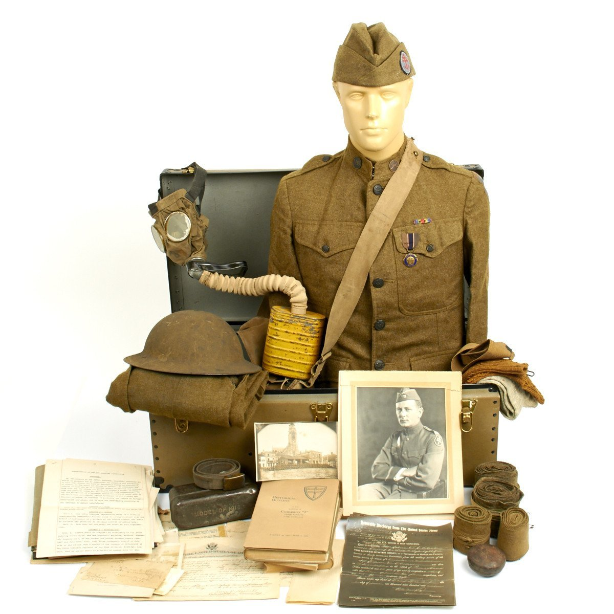 wwi US soldiers military items Maine Museum